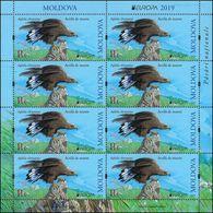 "Moldova 2019. Europe-2019 ""National Bird.Golden Eagle"" Sheet Quality:100% - Moldavie"