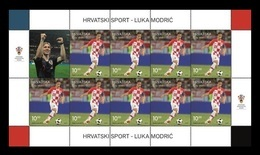 Croatia 2019 Mih. 1368 Football. Luka Modric - Best Player Of FIFA World Cup 2018 In Russia (M/S) MNH ** - Croatie
