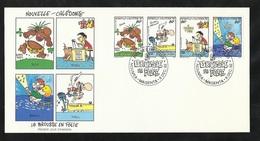 FDC Lettre Premier Jour Nouméa Le 09/12/1992 Bande P.A. N°295A La Brousse En Folie B.D. De Bernard Berger TB - Bandes Dessinées
