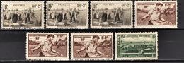 FRANCE 1940 - LOT DE 7 TP /  Y.T. N° 466 X 3 / 467 X 3 / 469 - NEUFS** - Neufs