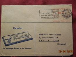 Lettre De 1946 à Destination De Paris Avec EMA (enveloppe Publicitaire) - Marcophilie