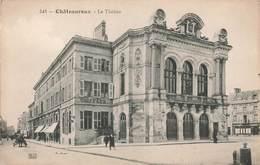 36 Chateauroux Le Theatre , Cpa Carte Animée - Chateauroux
