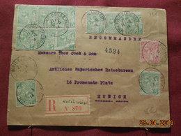 Lettre De 1914 à Destination De Munich En Recommandé - Monaco