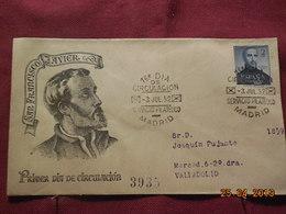 FDC De 1952 à Destination De Valladolid ( Poste Aérienne) - FDC