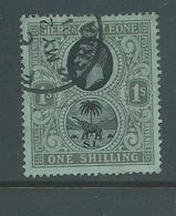 Sierra Leone 1912 - 1916 KGV & Elephant 1 Shilling FU - Sierra Leone (...-1960)