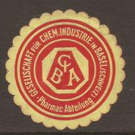 LETTER SEAL. ADVERTISING. SWITZERLAND. CHEMICAL WORKS. BASEL. - Werbung