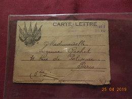 Carte-lettre De 1917 à Destination De Paris - Marcophilie (Lettres)