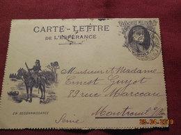Carte-lettre De 1916 à Destination De Montreuil Sous Bois - Marcophilie (Lettres)