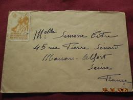 Lettre à Destination De Maisons-Alfort - A.O.F. (1934-1959)