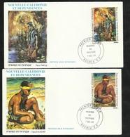 FDC 2 Lettres Illustrées Premier Jour Nouméa 07/12/1983 P.A.N°234 & 235 Peintres Du Pacifique  R. Mascart Et P.Nielly TB - Modern