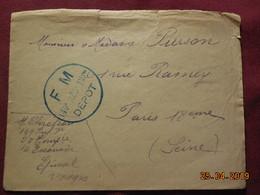 Lettre En FM à Destination De Paris - Postmark Collection (Covers)