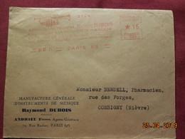 Lettre De 1931 à Destination De Corbigny Avec EMA - Postmark Collection (Covers)