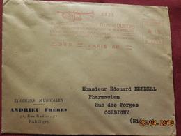 Lettre De 1931 à Destination De Corbigny Avec EMA - Freistempel