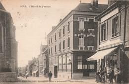"""80 Ault Hotel De France  , Cpa Carte Animée Boutique Commerce """"au Petit Louvre"""" - Ault"""