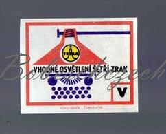 K4-93 CZECHOSLOVAKIA 1968 Alphabet Of Industry TESLA Holesovice Tesla Lighting - Light Bulb / Typewriter - Matchbox Labels