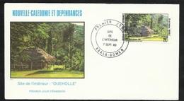 """FDC Lettre Illustrée Premier Jour Kaala-Gomen Le 07/09/1983 P.A.N°233 Paysage Site De L'intérieur """"Oucholle""""  TB - Briefe U. Dokumente"""