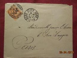 Lettre De 1902 Avec Timbre Surchargé FM à Destination De Paris - 1877-1920: Période Semi Moderne