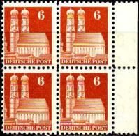 Allemagne Zone Anglo-Américaine Poste N** Yv:44 Mi:76eg Frauenkirche München Bloc De 4 Bord De Feuille - Zona Anglo-Americana