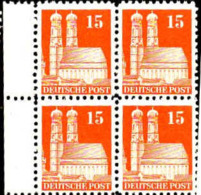 Allemagne Zone Anglo-Américaine Poste N** Yv:49 Mi:81wg Frauenkirche München Bloc De 4 Bord De Feuille - Zona Anglo-Americana