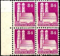 Allemagne Zone Anglo-Américaine Poste N** Yv:63 Mi:95wg Frauenkirche München Bloc De 4 Bord De Feuille - Zona Anglo-Americana