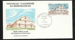 FDC Lettre Illustrée Premier Jour Nouméa 14/06/1986 P.A.N°251 Association Marguerite Magasin De Vivres De L' Île NOU TB - Briefe U. Dokumente
