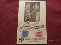 Carte De 1943  (exposition Philatélique Le Mans) - Marcophilie (Lettres)