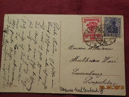 Carte à Destination De Luxembourg - Briefe U. Dokumente