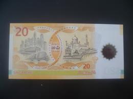 2007 BRUNEI / SINGAPORE  40th ANNIVERSARY $20  POLYMER BANKNOTE  NEW UNC 1st Prefix (#75) - Singapore