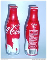 LIMITED Edition ! 1 Pc. Singapore 2014 Christmas Coca Cola Polar Bear Aluminium Empty Bottle - Deportes