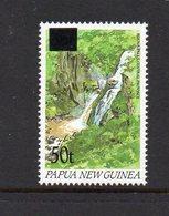 PAPUA NEW GUINEA, 1994 50t ON 35t OVERPRINT WATERFALL MNH - Papua New Guinea