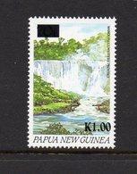 PAPUA NEW GUINEA, 1994 K1 ON 70t OVERPRINT WATERFALL MNH - Papua New Guinea
