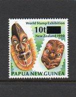 PAPUA NEW GUINEA, 1994 10t ON 35t OVERPRINT NZ MASKS MNH - Papua New Guinea