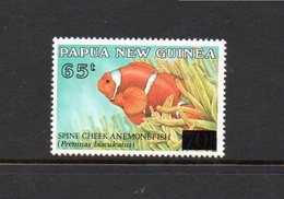 PAPUA NEW GUINEA, 1994 65t ON 70t OVERPRINT ANENOME FISH MNH - Papua New Guinea