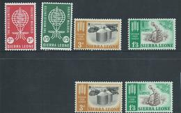 Sierra Leone 1962 2 X Freedom From Hunger +  Malaria Sets  MNH / MLH - Sierra Leone (1961-...)
