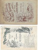 Le Petit Poucet - Journal Des Concerts Militaires - Programme 24/5/1900 - - Programmes