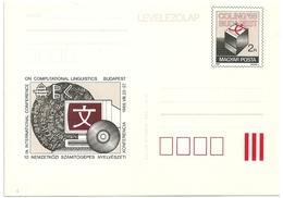 0586d Hungary Postcard Sience Computing Computer Linguistics Language Unused - Ganzsachen