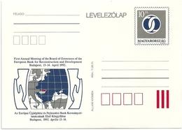 0588d Hungary Postcard Organization Board Of Govenors Of EBRD Tricolour Unused - Fabriken Und Industrien