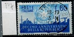 Italie - Italy - Italien 1956 Y&T N°727 - Michel N°969 (o) - 60l Anniversaire De La République - 6. 1946-.. Republic