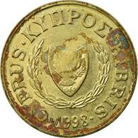 Monnaie, Chypre, 2 Cents, 1998, TB, Nickel-brass, KM:54.3 - Cyprus