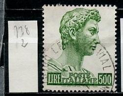 Italie - Italy - Italien 1957 Y&T N°738 - Michel N°981 (o) - 500l Saint Georges - 1946-.. République