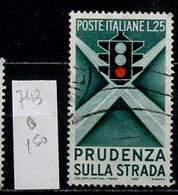 Italie - Italy - Italien 1957 Y&T N°743 - Michel N°991 (o) - 25l Prévention Routière - 1946-.. République