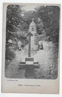 (RECTO / VERSO) BRIX EN 1919 - NOTRE DAME DE GRACE AVEC PERSONNAGES - LEGERS PLIS ANGLES HAUT - BEAU CACHET CPA VOYAGEE - France