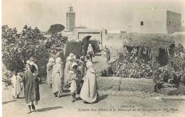 Oujda - Maroc-Entrée Des Souks Et Le Minaret De La Mosquée - Cpa Edit N.D- Paypal Sans Frais - Maroc