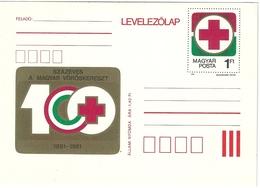 0590c Hungary Postcard Red Cross Health Medicine Unused - Hongrie