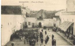 Mogador - Maroc- Place Du Chayla  -  Cpa  Animée   - Paypal Sans Frais - Maroc