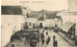 Mogador - Maroc- Place Du Chayla  -  Cpa  Animée   - Paypal Sans Frais - Altri