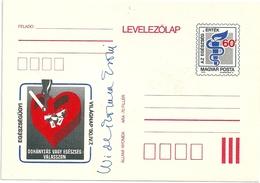 0591c Hungary Post Card Unused Medicine Health Smoking - Entiers Postaux