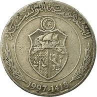 Monnaie, Tunisie, 1/2 Dinar, 1997, Paris, TB+, Copper-nickel, KM:346 - Tunisia