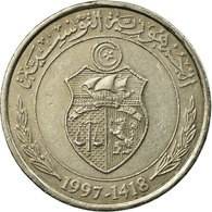 Monnaie, Tunisie, 1/2 Dinar, 1997, Paris, TTB, Copper-nickel, KM:346 - Tunisia