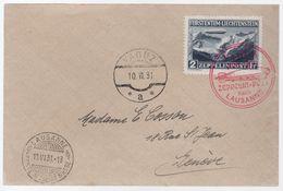 Storia Postale Grecia 1931 Volo Zeppelin - Liechtenstein